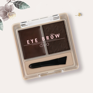 Y7298-1 eye brow duo Shimmer Glitter High Pigment  Makeup Eye Shadow Two Color Mixed  Eyeshadow Pale